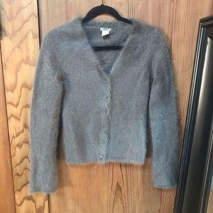 J Crew Rabbit Hair so soft Cardigan Sweater